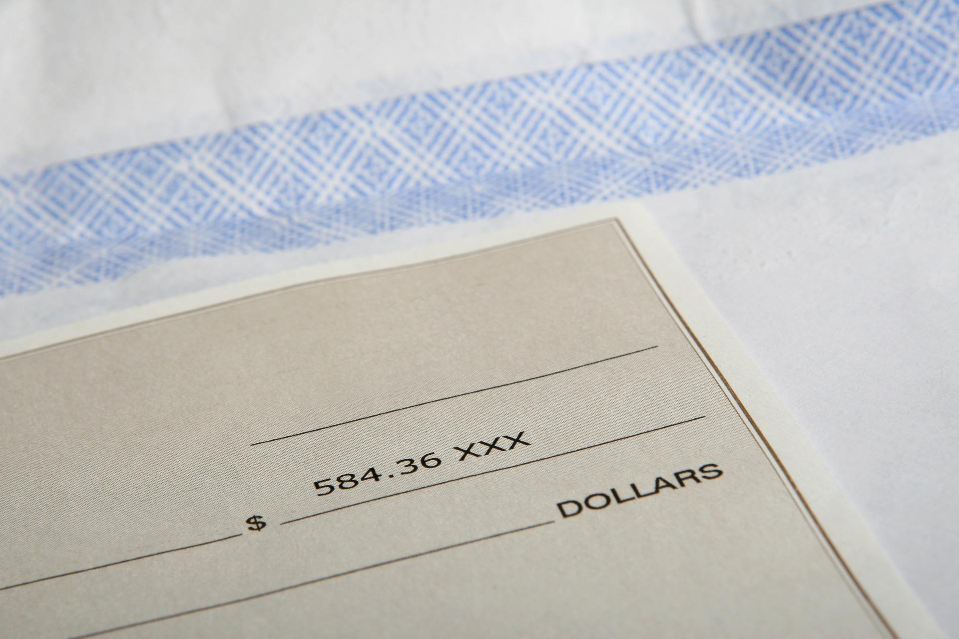 chèque de réservation