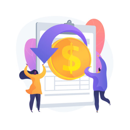Remittance money. Forward cash overseas. Direct funding, give allowance, spare sum. Getting payroll. Transferring forex money. Drop coin. Vector isolated concept metaphor illustration.